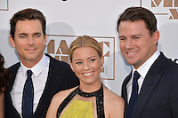 Matt Bomer (left), Elizabeth Banks &amp; Channing Tatum at the world premiere of their movie &quot;Magic Mike XXL&quot; at the TCL Chinese Theatre, Hollywood.<br /> June 25, 2015  Los Angeles, CA<br /> Picture: Paul Smith / Featureflash