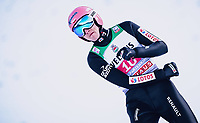 1st January 2020, Olympiaschanze, Garmisch Partenkirchen, Germany, FIS World cup Ski Jumping, 4-Hills competition; 3rd placed Dawid Kubacki of Poland reacts after his competition Jump for the Four Hills Tournament