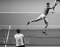 Rotterdam, The Netherlands, 17 Februari 2019, ABNAMRO World Tennis Tournament, Ahoy, Final, Doubles, Jean-Julien Rojer (NED),<br /> Photo: www.tennisimages.com/Henk Koster