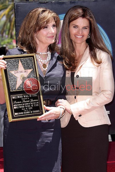 Susan Saint James and Maria Shriver<br />at the award ceremony honoring Susan Saint James with a star on the Hollywood Walk of Fame. Hollywood Blvd., Hollywood, CA. 06-11-08<br />Dave Edwards/DailyCeleb.com 818-249-4998