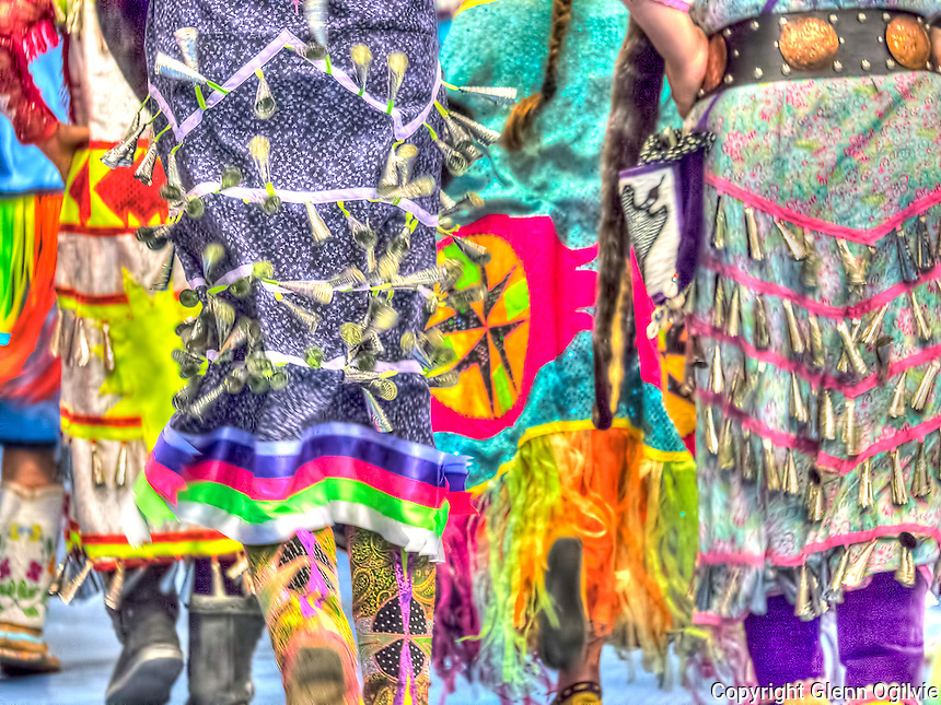Jingle dress dancers at The Lambton College Aboriginal Cultural/Learning Centre 24th annual Pow Wow.