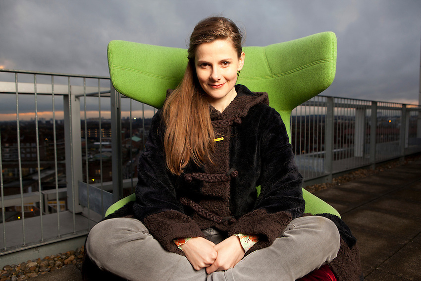 Luise Brealey, actor and journalist photographed at the BBC White City Studios in London.