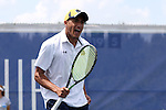 21 April 2016: Notre Dame's Grayson Broadus. The University of Notre Dame Fighting Irish played the Duke University Blue Devils at the Cary Tennis Center in Cary, North Carolina in the first round of the Atlantic Coast Conference Men's Tennis Tournament. Notre Dame won the match 4-1.