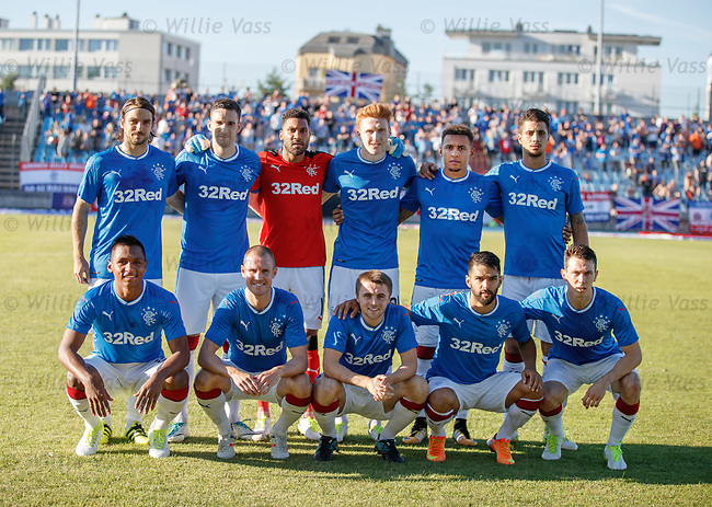 Rangers team group to play Progres Niederkorn