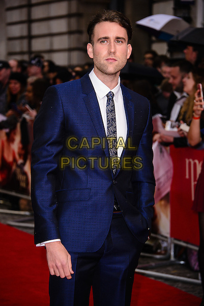 LONDON, ENGLAND - MAY 25: Matthew Lewis arrives at the Me Before You European premiere at the Curzon Mayfair, on May 25th, 2016 in London, England. <br /> CAP/JC<br /> &copy;JC/Capital Pictures