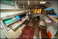 BNPS.co.uk (01202 558833)<br /> Pic: TomWren/BNPS<br /> <br /> The caravan that Pamela and Kenneth Barnes would use to store and exhibit the collection of lamps.<br />  <br /> This is the 'Lady with the Lamp' whose impressive collection of 400 historic lamps has emerged for auction and is tipped to sell for &pound;10,000.<br /> <br /> Pamela Barnes and her husband Kenneth have amassed a remarkable haul of 19th and 20th century railway, naval and mining lamps.<br /> <br /> It all started 50 years ago when Mr Barnes, 90, gave up smoking and decided he needed another 'bad habit'. <br /> <br /> The couple picked up the lamps at second hand shops and would take them in their caravan to rallies across the south of England.