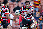 Viliami Fihaki gets the pass away to Sherwin Stowers. ITM Cup rugby game between Waikato and Counties Manukau, played at Waikato Stadium, Hamilton on Saturday 28th August 2010..Waikato won 39 - 3.
