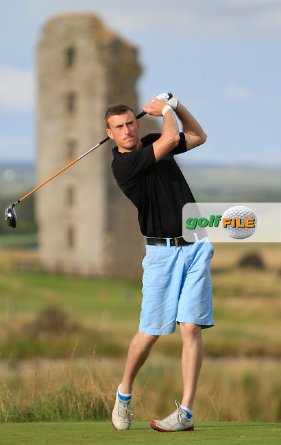 Eoin O'Connor (Elm Park) on the 13th tee during the South of Ireland Amateur Open Championship Second Round at Lahinch Golf Club  28th July 2013 <br /> Picture:  Thos Caffrey / www.golffile.ie