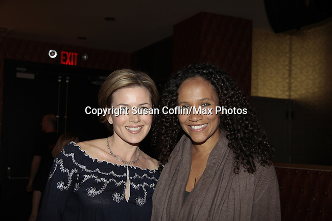 Nancy St. Alban & Yvonna Kopacz Wright - 11th Annual Daytime Stars & Strikes Event for Autism - 2015 on April 19, 2015 hosted by Guiding Light's Jerry ver Dorn (& OLTL) and Liz Keifer at Bowlmor Lanes Times Square, New York City, New York. (Photos by Sue Coflin/Max Photos)