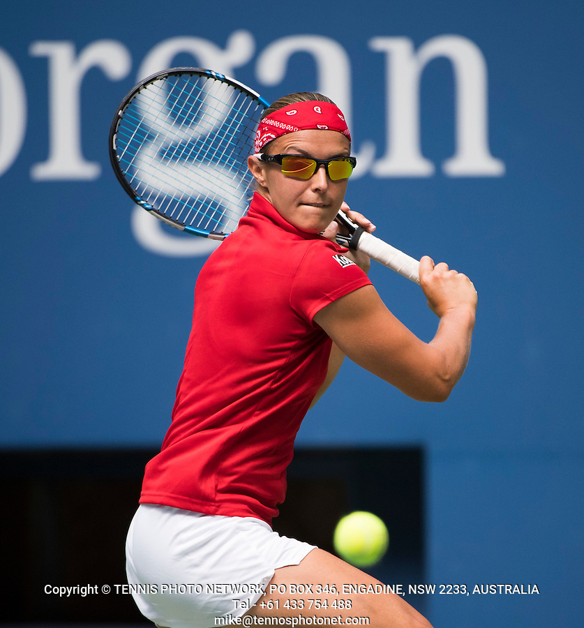 KIRSTEN FLIPKENS (BEL)<br /> <br /> TENNIS - THE US OPEN - FLUSHING MEADOWS - NEW YORK - ATP - WTA - ITF - GRAND SLAM - OPEN - NEW YORK - USA - 2016  <br /> <br /> <br /> <br /> &copy; TENNIS PHOTO NETWORK