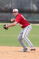 Indiana Hoosiers Dustin DeMuth #16 during a game vs UMass at Lake Myrtle Main Field in Auburndale, Florida;  March 16, 2011.  Indiana defeated UMass 11-10.  Photo By Mike Janes/Four Seam Images