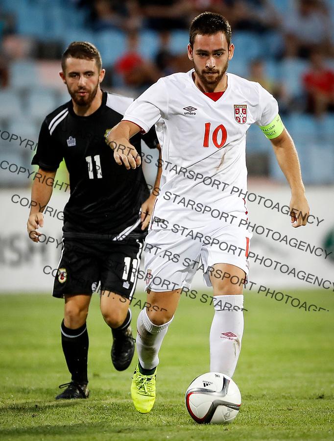 Fudbal Soccer<br /> Reprezentacija Srbije U21<br /> Kvalifikacije za U21 EURO 2019<br /> Srbija U21 v Gibraltar U21<br /> Andrija Zivkovic (R)<br /> Jagodina, 09.01.2017.<br /> foto: Srdjan Stevanovic/Starsportphoto &copy;
