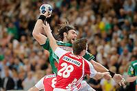 Pavel Horak (FAG) wirft, zieht ab, vorne Gunnar Dietrich (TBV)