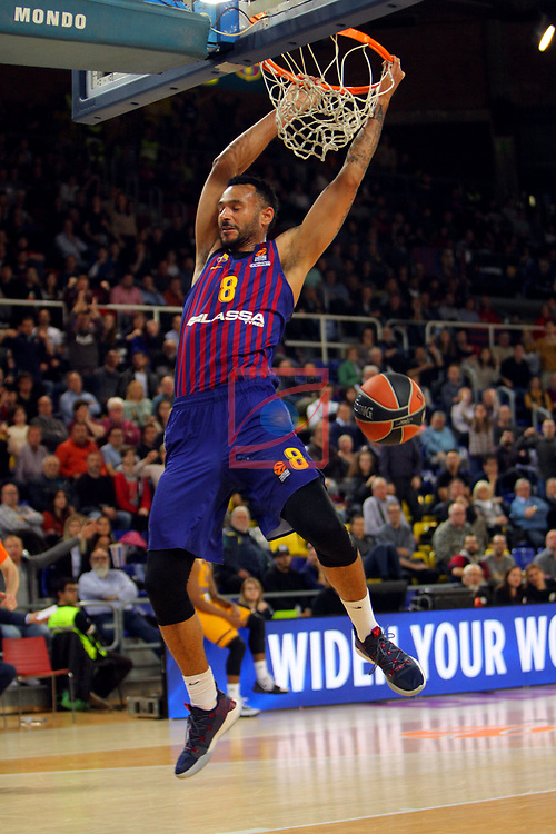 Turkish Airlines Euroleague 2018/2019. <br /> Regular Season-Round 30.<br /> FC Barcelona Lassa vs Khimki Moscow Region: 83-74. <br /> Adam Hanga.