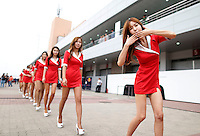 ATENCAO EDITOR - IMAGEM EMBARGADA PARA VEICULOS INTERNACIONAIS - <br /> YEONGAM, COREIA DO SUL, 14 OUTUBRO 2012 - F1 - GP DA COREIA DO SUL - Modelos durante o GP da Coreia do Sul, neste domingo, 14. (FOTO: PIXATHLON / BRAZIL PHOTO PRESS).