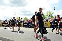 The Bath Rugby team arrive at Twickenham Stadium. Aviva Premiership Final, between Bath Rugby and Saracens on May 30, 2015 at Twickenham Stadium in London, England. Photo by: Patrick Khachfe / Onside Images