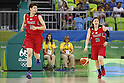 (L-R) Ramu Tokashiki, Asami Yoshida (JPN), AUGUST 6, 2016 - Basketball : <br /> Women's Preliminary Round <br /> between  Japan 77-73 Belorussiya  <br /> at Youth Arena <br /> during the Rio 2016 Olympic Games in Rio de Janeiro, Brazil. <br /> (Photo by Yusuke Nakanishi/AFLO SPORT)