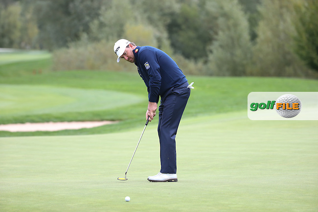 Mikael LUNDBERG (SWE) eyes up the putt on the 13th during the Final Round of the Porsche European Open 2015 played at Golf Resort Bad Griesbach, Bad Griesbach, Germany.  27/09/2015. Picture: Golffile | David Lloyd<br /> <br /> All photos usage must carry mandatory copyright credit (&copy; Golffile | David Lloyd)