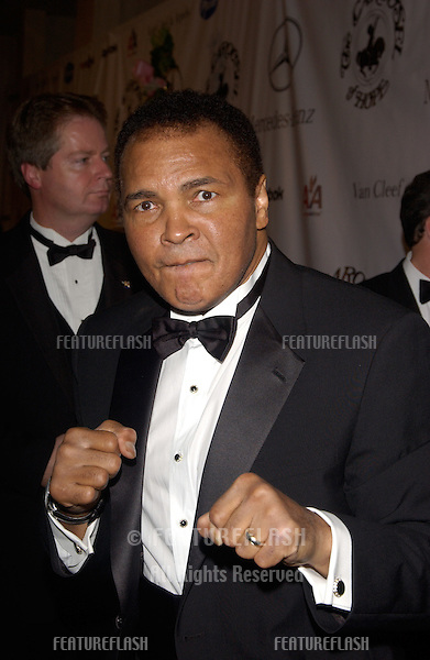 Former boxing champion MUHAMMAD ALI at the 16th Carousel of Hope Ball at the Beverly Hills Hilton. The gala is the world's premiere charity event raising money for the fight against childhood diabetes..October 23, 2004