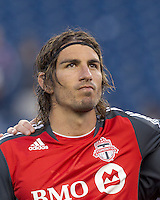 Toronto FC forward Alan Gordon (21). In a Major League Soccer (MLS) match, the New England Revolution tied Toronto FC, 0-0, at Gillette Stadium on June 15, 2011.