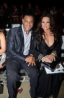 Sammy Sosa and wife, Sonia Rodriguez, sit front Row at Miami Fashion Week 2013, March 24, 2013, Convention Center, Miami Beach, FL,