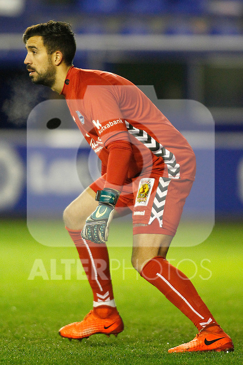 Deportivo Alaves' Fernando Pacheco during Spanish Kings Cup semifinal 2nd leg match. February 08,2017. (ALTERPHOTOS/Acero)