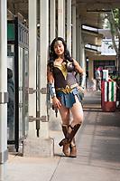 Amazonian Warrior Wonder Woman Cosplay, Renton City Comicon 2017, WA, USA.