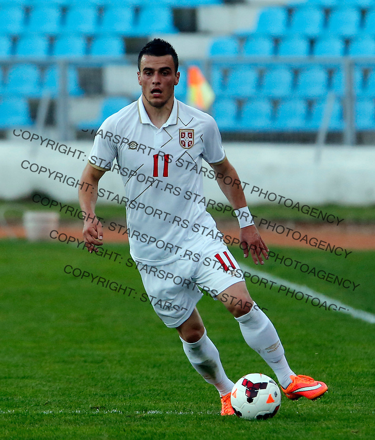 Filip Kostic  U21 play off football match between Serbia and Spain in Jagodina, Serbia on October 10.2014. (photo: Pedja Milosavljevic / thepedja@gmail.com / +381641260959)