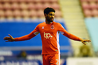 Blackpool's Kelvin Mellor reacts<br /> <br /> Photographer Richard Martin-Roberts/CameraSport<br /> <br /> The EFL Sky Bet League One - Wigan Athletic v Blackpool - Tuesday 13th February 2018 - DW Stadium - Wigan<br /> <br /> World Copyright &not;&copy; 2018 CameraSport. All rights reserved. 43 Linden Ave. Countesthorpe. Leicester. England. LE8 5PG - Tel: +44 (0) 116 277 4147 - admin@camerasport.com - www.camerasport.com