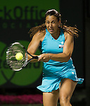 Marion Bartoli  plays at the Sony Ericsson Open in Key Biscayne, Florida on March 28, 2012