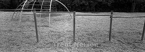 Bars on playground at Walt Disney Elementary School.<br />