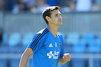 San Jose, CA - Saturday July 29, 2017: Chris Wondolowski prior to a Major League Soccer (MLS) match between the San Jose Earthquakes and Colorado Rapids at Avaya Stadium.