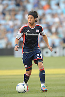 Lee Nguyen (24) forward New England Revolution in action..Sporting Kansas City and New England Revolution played to a 0-0 tie at LIVESTRONG Sporting Park, Kansas City, KS.