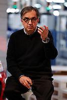 POMIGLIAND'ARCO ( NAPOLI) STABILIMENTO GIANBATTISTA VICO PRESENTAZIONE DELLA LINEA DI PRODUZIONE DELLA NUOVA FIAT PANDA NELLA FOTO SERGIO MARCHIONNE FOTO CIRO DE LUCA