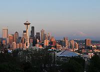 Seattle and Mount Rainier.