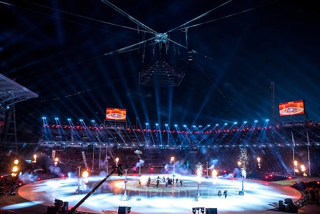 (Chris Detrick  |  The Salt Lake Tribune)  The PyeongChang 2018 Olympic Winter Games Closing Ceremony at Olympic Stadium Sunday, Feb. 25, 2018.