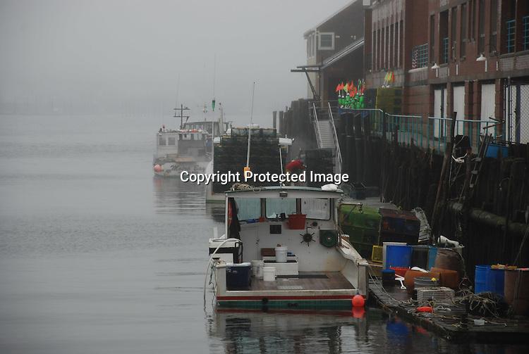 A foggy day on Portland Harbor