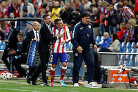 Griezmann of Atletico de Madrid during Champios Legue soccer match between Atletico de Madrid V Malmoe al Vicente Calderon Stadium. October 22, 2014. (ALTERPHOTOS/Caro Marin)