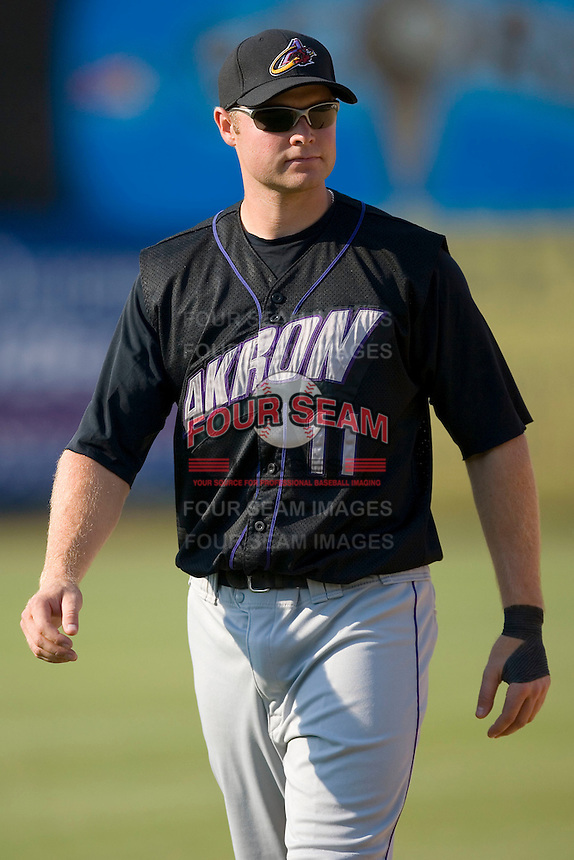 Wes Hodges (11) of the Akron Aeros during batting practice at Prince Georges Stadium in Bowie, MD, Tuesday June 17, 2008.