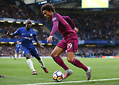 30th September 2017, Stamford Bridge, London, England; EPL Premier League football, Chelsea versus Manchester City; Leroy Sane of Manchester City in action