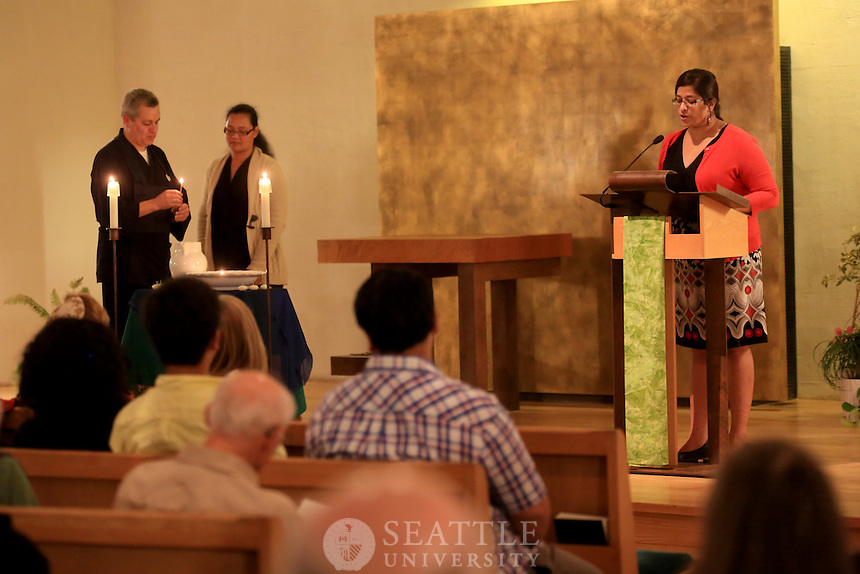 September 24th, 2015-  Seattle University Institute for Catholic Thought and Culture's (ICTC) Committing to Our Common Home (An Interfaith Response to Pope Francis's Encyclical on the Environment) event at the Chapel of St. Ignatius. <br /> <br /> Seattle University and Earth Ministry/Washington Interfaith Power &amp; Light, led an evening of interfaith to join Pope Francis's recent message of caring for our common home, planet earth. This event marks the launch of Seattle University's year-long engagement with Laudato Si', the Pope&rsquo;s encyclical, and Earth Ministry/WAIPL&rsquo;s annual Celebration of St. Francis.