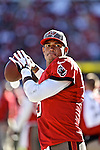 Tampa Bay Buccaneers quarterback Josh Freeman (5) warms up in a game against the Atlanta Falcons Sunday, November 25, 2012, in Tampa, Fla. The Falcons defeated the Buccaneers 24-23.  (AP Photo/Margaret Bowles)