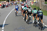 The breakaway group during Stage 19 of the 2017 La Vuelta, running 149.7km from Caso. Parque Natural de Redes to Gij&oacute;n, Spain. 8th September 2017.<br /> Picture: Unipublic/&copy;photogomezsport | Cyclefile<br /> <br /> <br /> All photos usage must carry mandatory copyright credit (&copy; Cyclefile | Unipublic/&copy;photogomezsport)