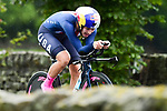 Chloe Dygert of the United States of America in action during the Women's Elite Individual Time Trial of the UCI World Championships 2019 running 30.3km from Ripon to Harrogate, England. 24th September 2019.<br /> Picture: Alex Broadway/SWPix.com | Cyclefile<br /> <br /> All photos usage must carry mandatory copyright credit (© Cyclefile | Alex Broadway/SWPix.com)