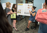 Occidental College's Undergraduate Research Center hosts their annual Summer Research Conference on Aug. 2, 2017. Student researchers presented their work as either oral or poster presentations at the final conference. The program lasts 10 weeks and involves independent research in all departments.<br /> (Photo by Marc Campos, Occidental College Photographer)