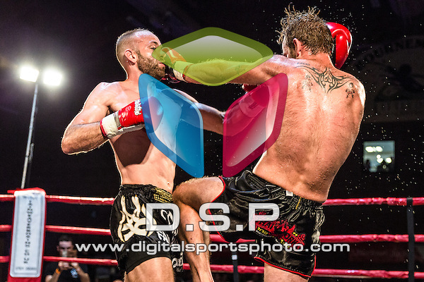 Ben Harris VS Jake Rands. Photo by: Stephen Smith<br /> <br /> Warrior Fight Nights 5 - Sunday 28th September 2014. The Littledown Centre, Bournemouth, Dorset, United Kingdom.