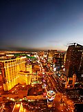 USA, Nevada, Las Vegas, Sin City, taking in the view of the Las Vegas Strip from the top of the Eiffel Tower, looking South, Paris Las Vegas Hotel and Casino