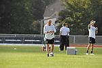 FBL 09/10 Traininglager  Werder Bremen Norderney 2007 Day 02<br /> <br /> Training Samstag nachmittag<br /> <br /> Thomas Schaaf ( Bremen GER - Trainer  COACH) schaut auf die UHr re Michael Kraft ( Bremen - TW - Trainer GER <br /> <br /> Foto &copy; nph (nordphoto)