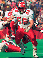 Dan Ferrone Calgary Stampeders 1989. Photo F. Scott Grant