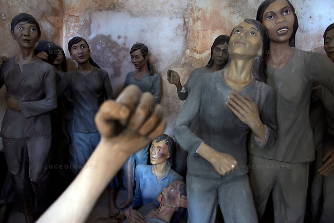 Mannequins of a Vietnamese female prisoners at  Phu Hai Prison on Con Son Island, part of the Con Dao Islands.The 16 mountainous islands and islets are situated about 143 miles southeast of Ho Chi Minh City in Vietnam, in the South China Sea. Phu Hai Prison, which was built in 1862, is the largest and oldest prison on Con Son Island.  Eleven prisons were built on the island and are now open for tours.  Photo taken Thursday, May 5, 2010...Kevin German / LUCEO For the New York Times